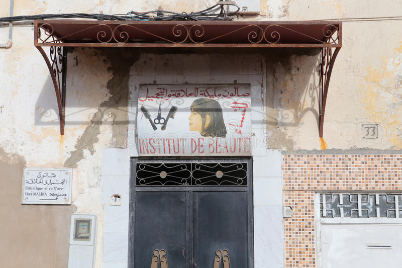 Download Banner Outside A Hairdresser And Beauty Salon In Fes Morocco Editorial Image