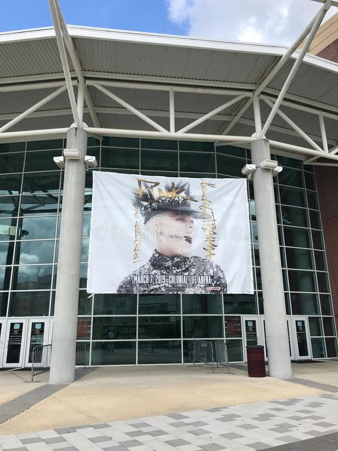 Banner for Pink Concert at Colonial Life Arena in Columbia, South Carolina.  stock photos