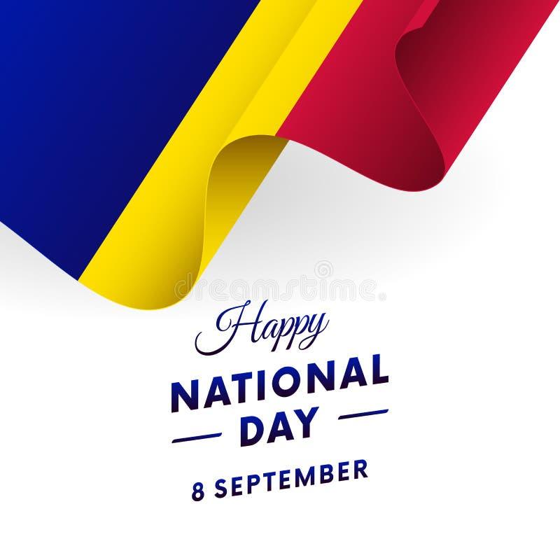 Banner or poster of Andorra National Day celebration. Waving flag. Vector illustration. Banner or poster of Andorra National Day celebration. Waving flag vector illustration
