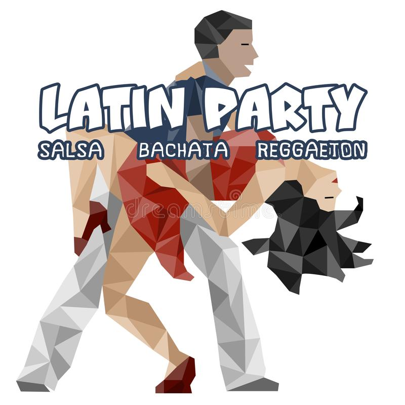 Banner, poster with dansing pair. Salsa Party royalty free illustration