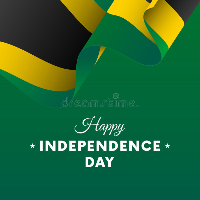 Banner Or Poster Of Jamaica Independence Day Celebration Waving - Jamaica independence day
