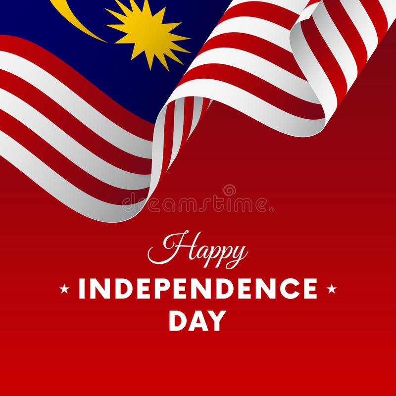 Banner or poster of Malaysia independence day celebration. flag. Vector illustration. stock illustration