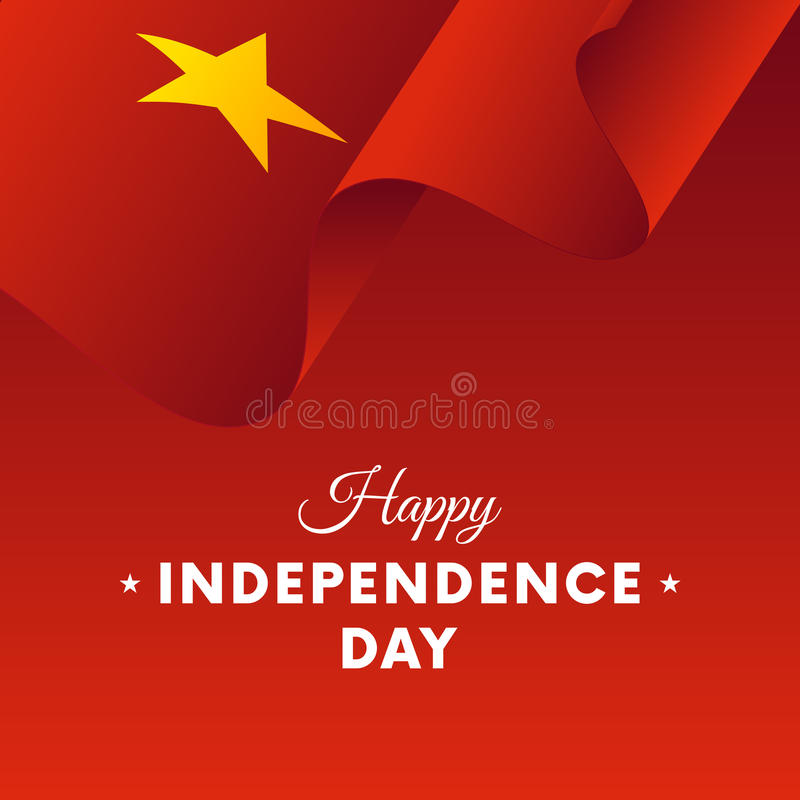 Banner or poster of Vietnam independence day celebration. flag. Vector illustration. royalty free illustration