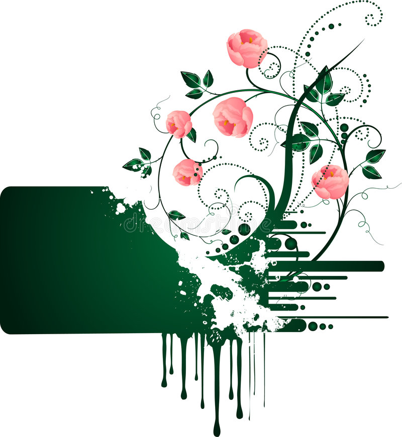 banner róże ilustracja wektor