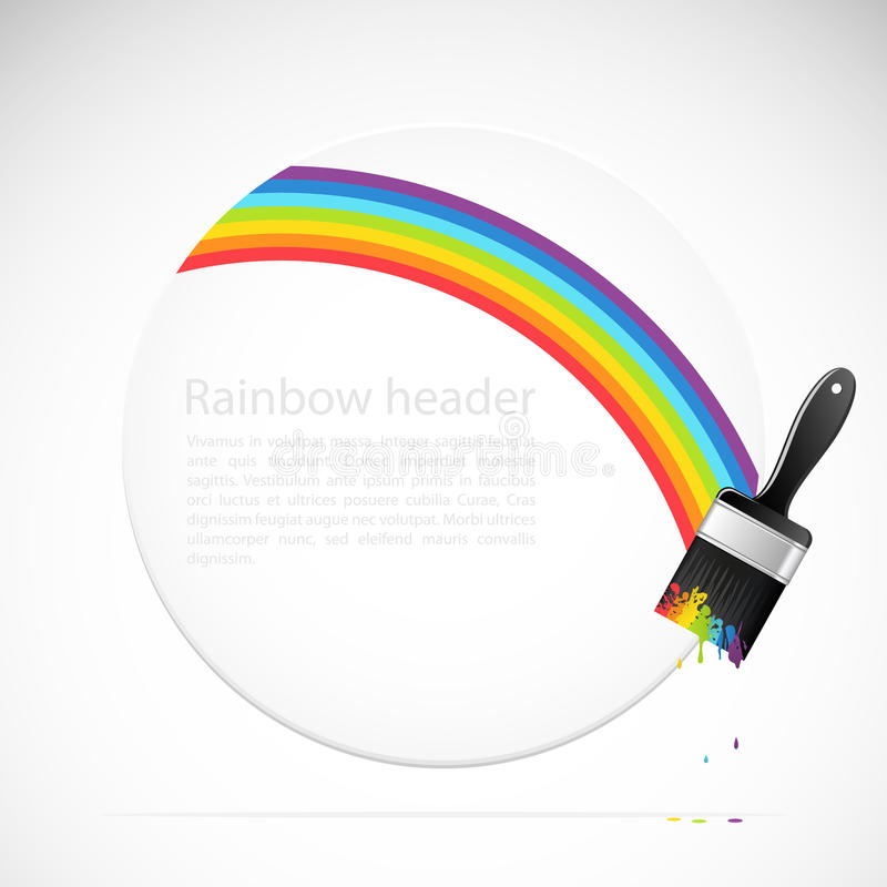 Download Banner With Rainbow Brush Stock Image - Image: 21999711