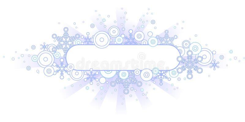 banner retro zimy. ilustracji