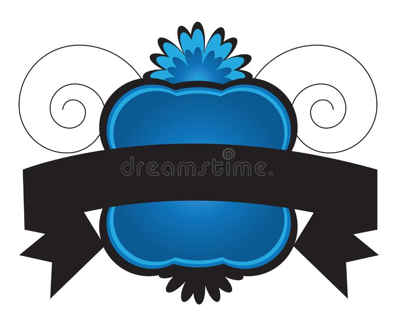 Download Banner with ribbon stock vector. Illustration of ornamental - 16913644