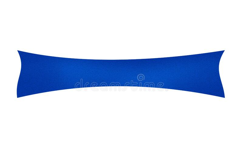Banner Ribbon Image with Gradient isolated. Banner Ribbon Image with Gradient and curved ends Isolated royalty free illustration