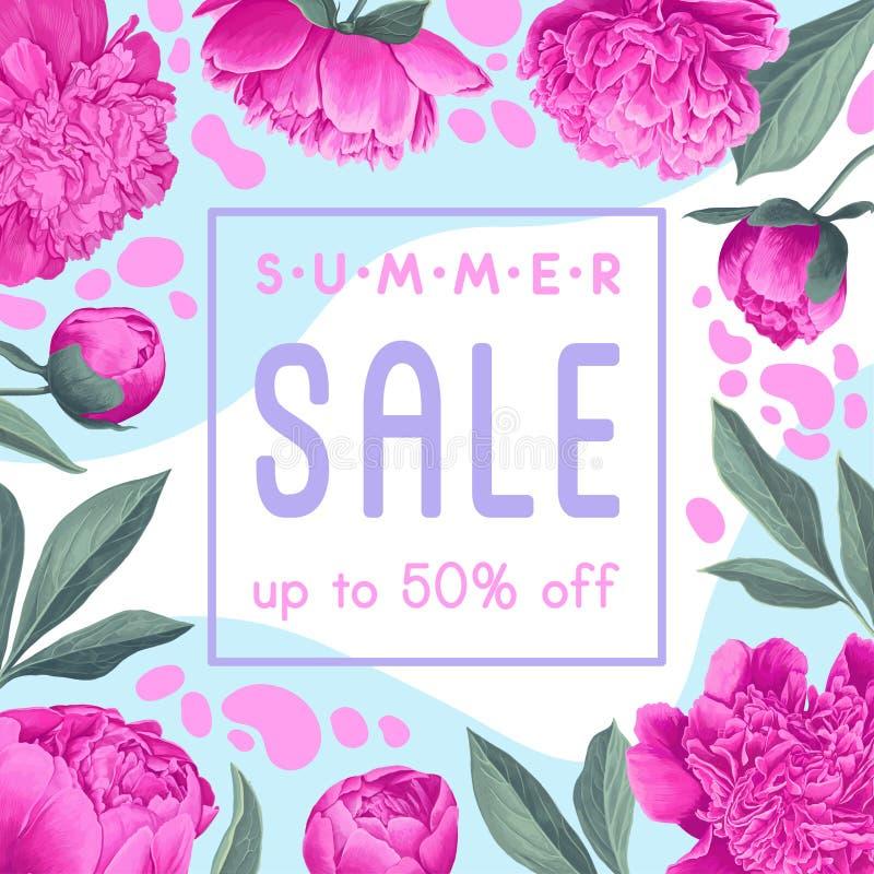 Summer sale advertisement banner design. royalty free illustration