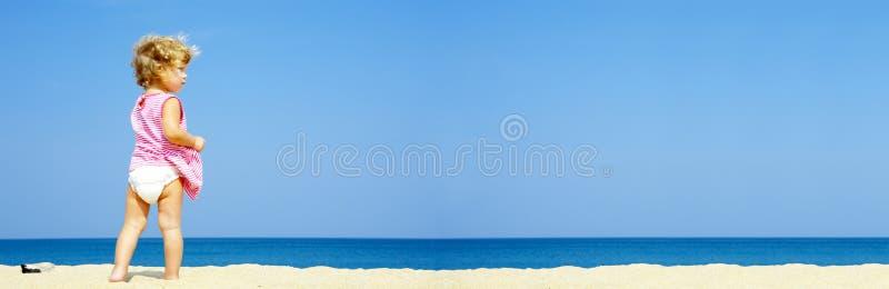 banner samotnie dziecko obraz stock