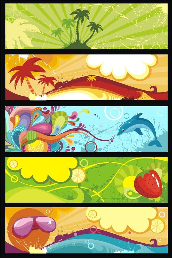 Banner set vector illustration