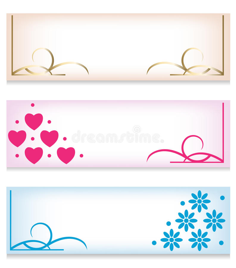 Banner Set Stock Images