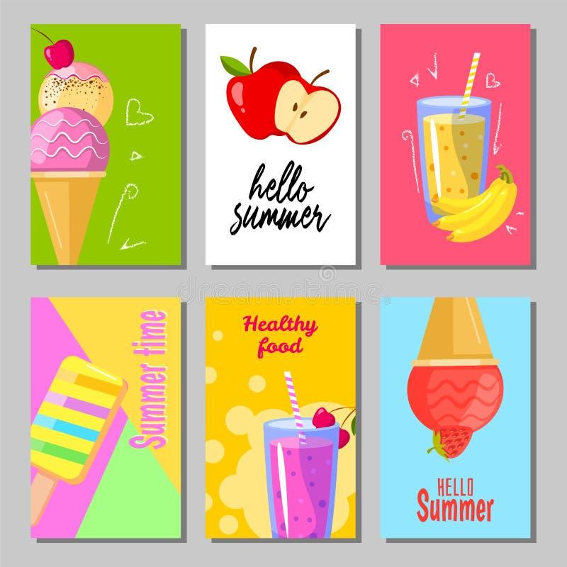 Summer Ice Cream Wallpaper: Banner Set Of Cute Sweet Summer Backgrounds. Summer Layout