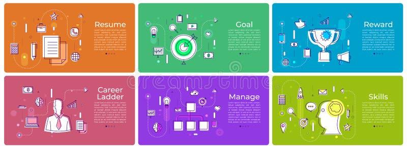 Banner set digital marketing stock illustration