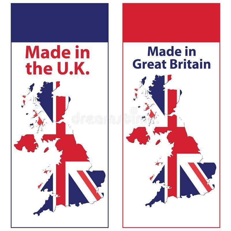 banner set for print: Made in UK. stock illustration