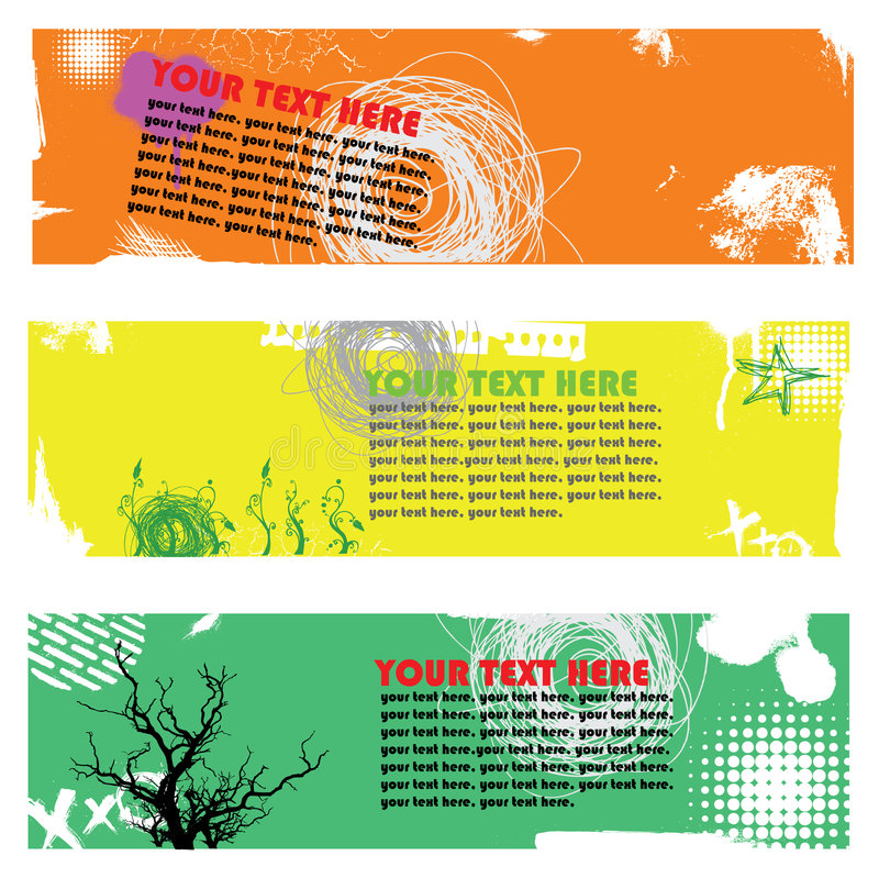 Download Banner set with scribble stock vector. Illustration of rock - 6641734
