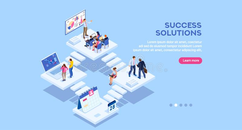 Banner for Small Office Homepage royalty free illustration