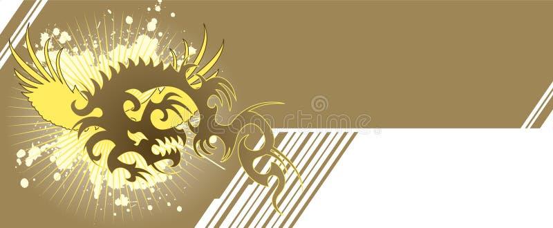banner smok ilustracji