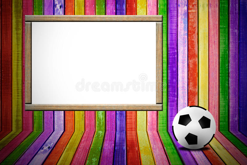 Download Banner and soccer ball stock photo. Image of grunge, blank - 24940744