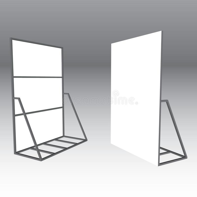 Banner Stand. Trade Show Booth outdoor royalty free stock images