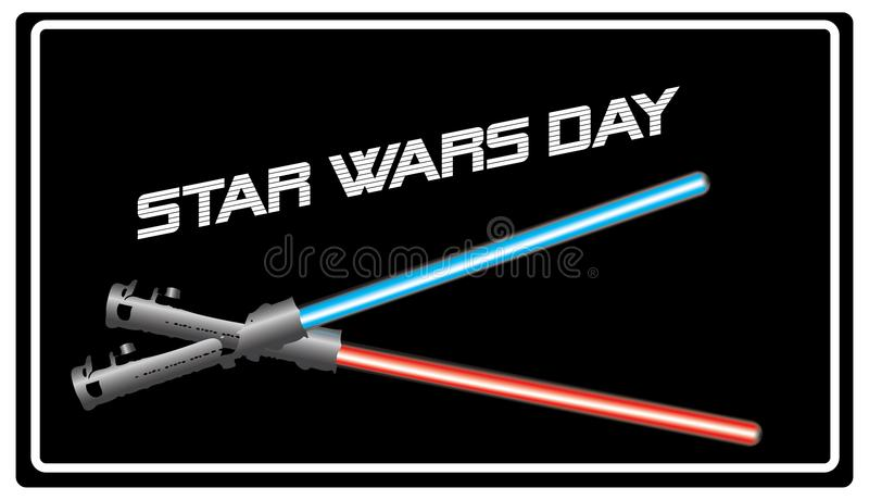 Banner Star Wars Day stock illustration