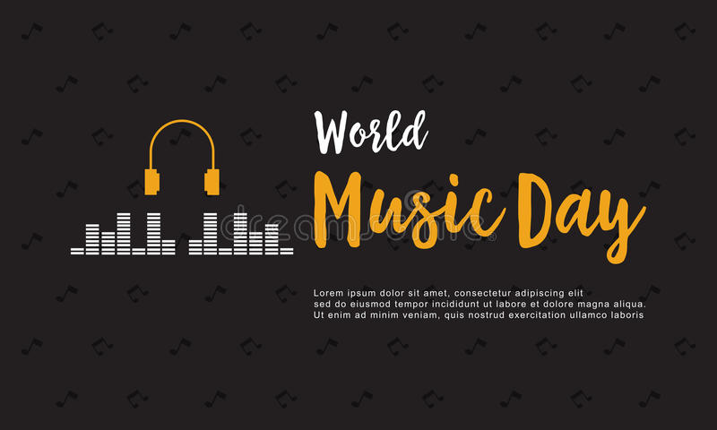 Banner style world music day collection. Vector art