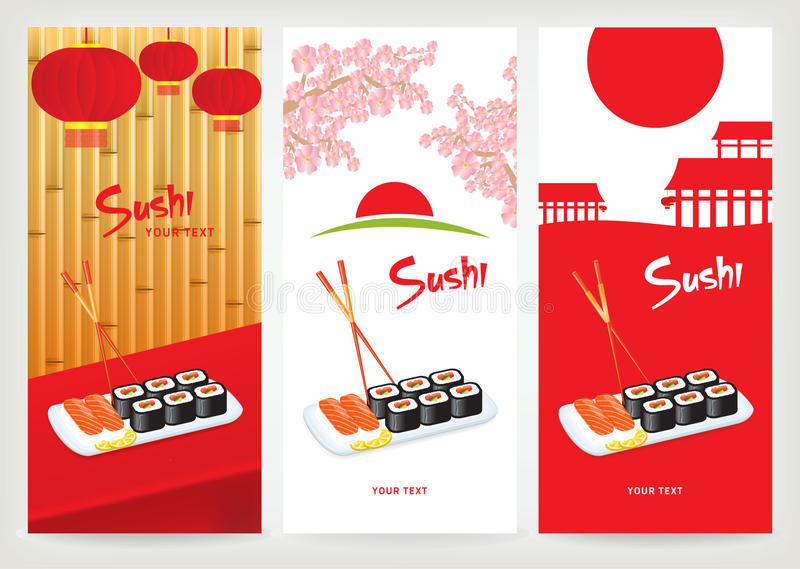 Banner sushi royalty free illustration