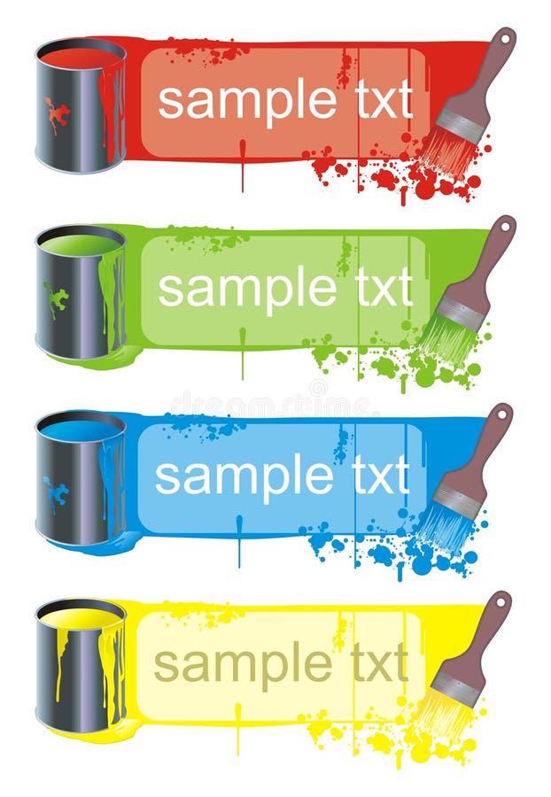 Download Banner Szczotki Farbę. Obrazy Stock - Obraz: 5906324