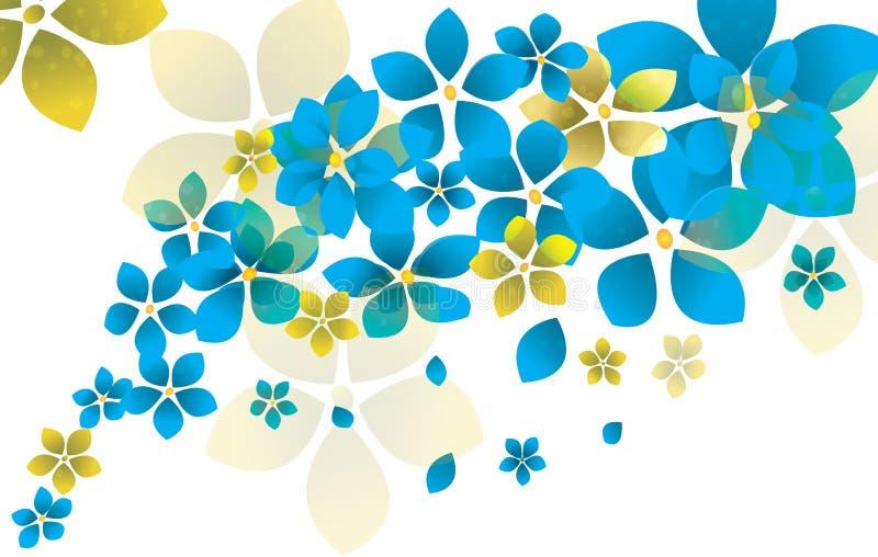 banner tła kwiaty form różowego spiralę trochę ilustracji
