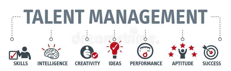 Banner talent management concept vector illustration. Banner human resource management, talent management and recruitment business vector illustration concept stock illustration