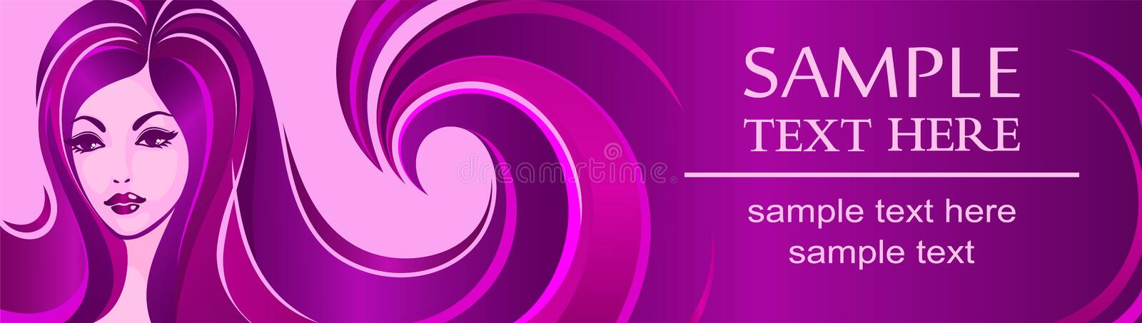Download Banner Template For Beauty Salon Or Advertising Stock Illustration