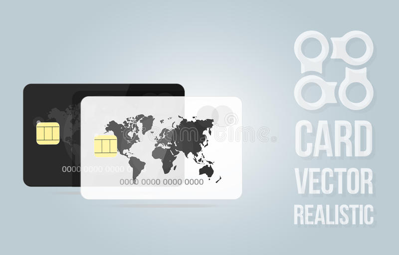 Banner template credit card. For the banking application or website. royalty free illustration