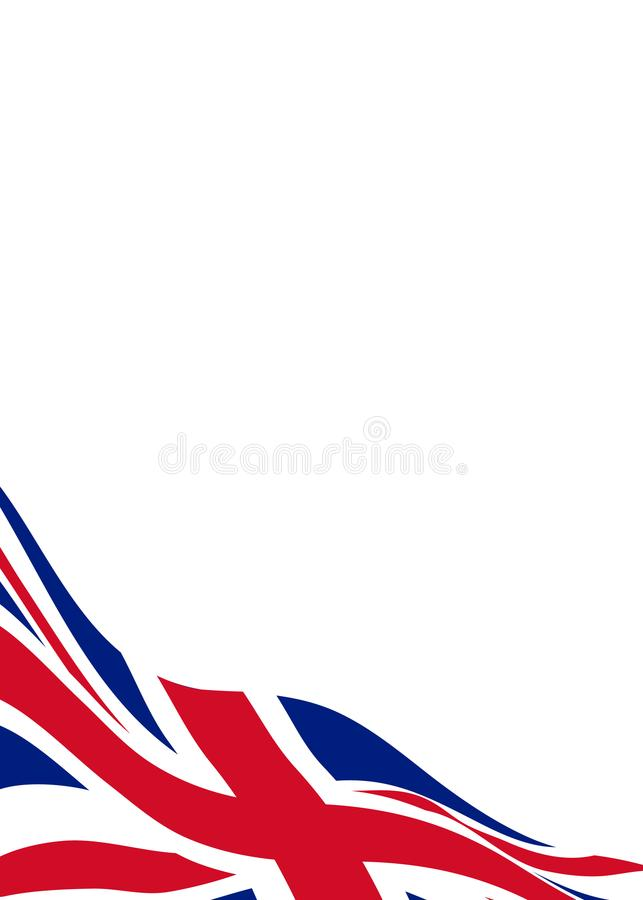 Banner template with flag of United Kingdom royalty free illustration