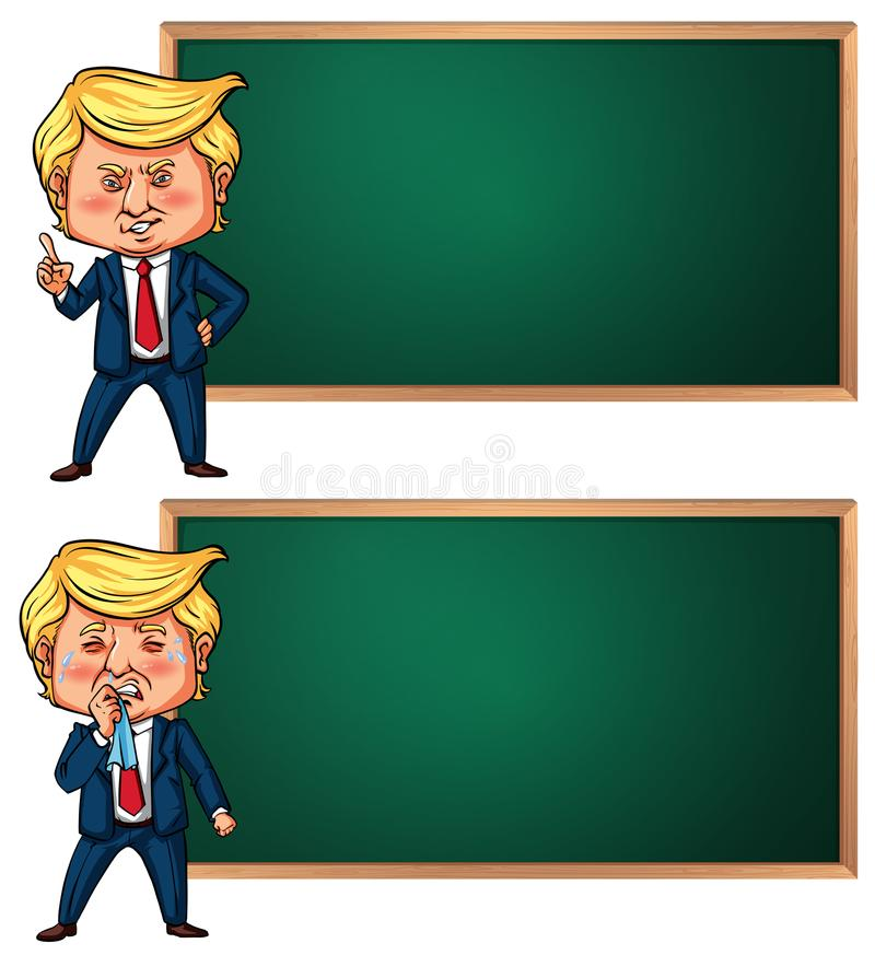 Banner template with US president Trump. Illustration stock illustration
