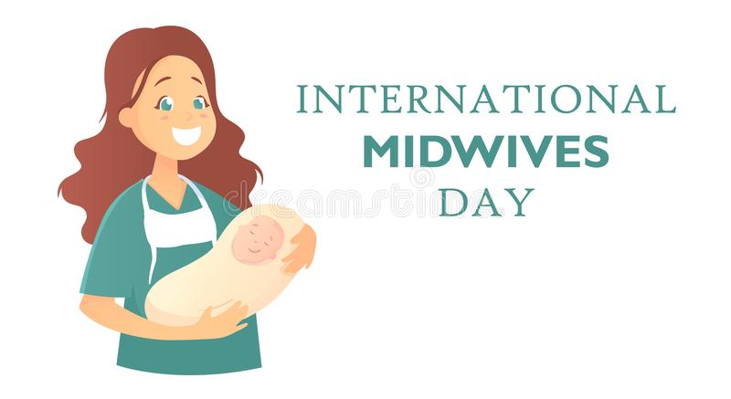 Banner with text International midwives day stock photography