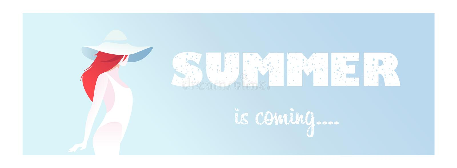 Banner with text summer came stock photography