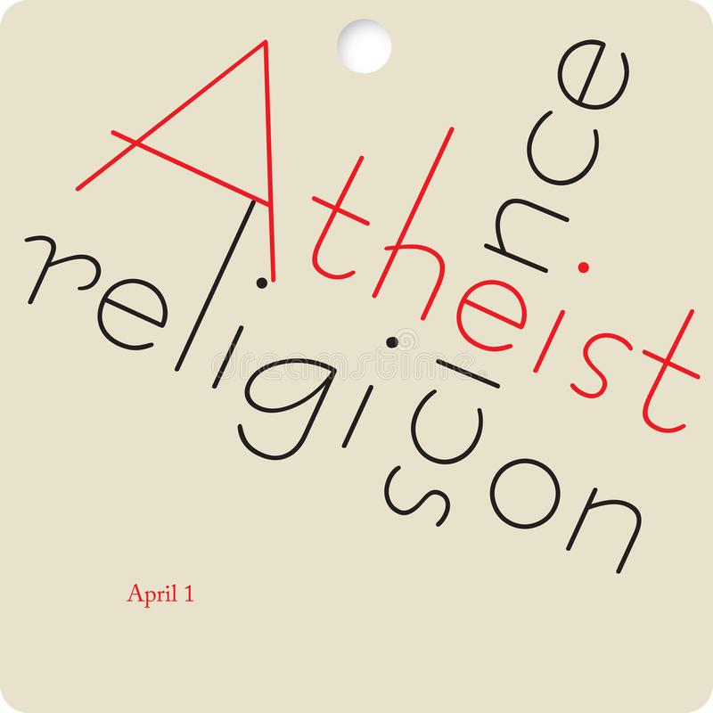 Banne Atheist Day. Banner to the date Atheist Day. April stock illustration