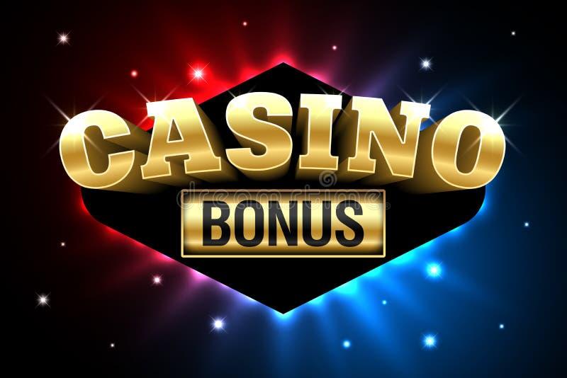 Banner van de casino de Welkome Bonus stock illustratie