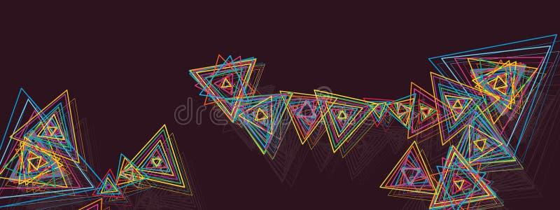 Banner van de driehoeks de kleurrijke lijn vector illustratie