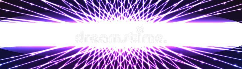 Download Banner Van Het Centrum De Witte Lichteffect Vector Illustratie - Illustratie bestaande uit decoratief, achtergronden: 54076999