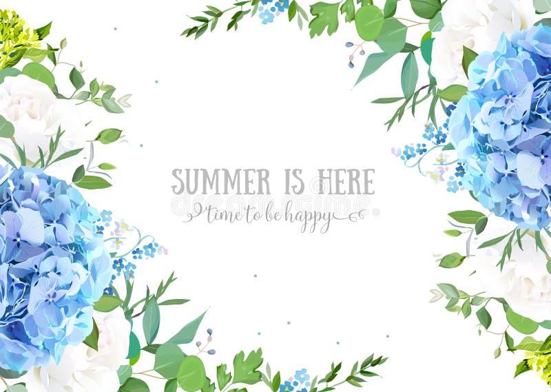 Banner van het de zomer de botanische vectorontwerp vector illustratie