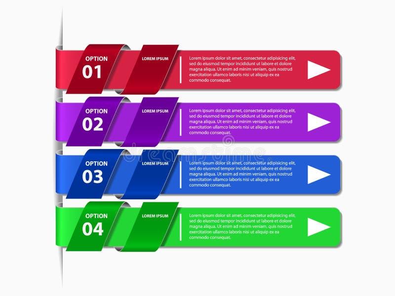 Banner van informatie de grafische opties royalty-vrije illustratie