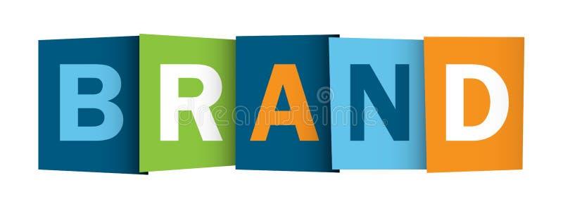 Banner van MERK de overlappende brieven vector illustratie