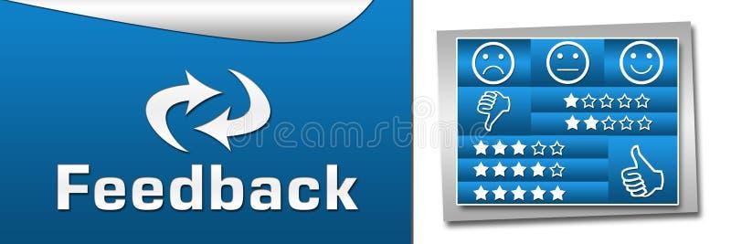 Banner van terugkoppelings de Blauwe Dozen vector illustratie