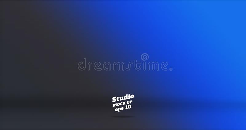 Banner vector abstract background of empty two tone gradient blu vector illustration