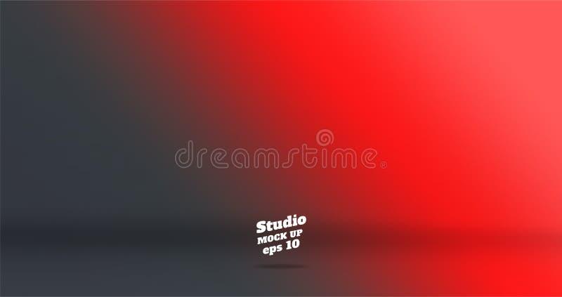 Banner vector abstracte achtergrond van het lege rood van de twee toongradiënt stock illustratie
