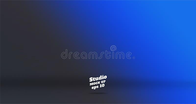 Banner vector abstracte achtergrond van lege blu van de twee toongradiënt vector illustratie