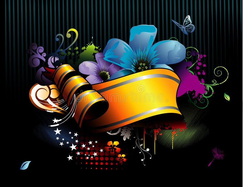 Banner vector composition royalty free illustration