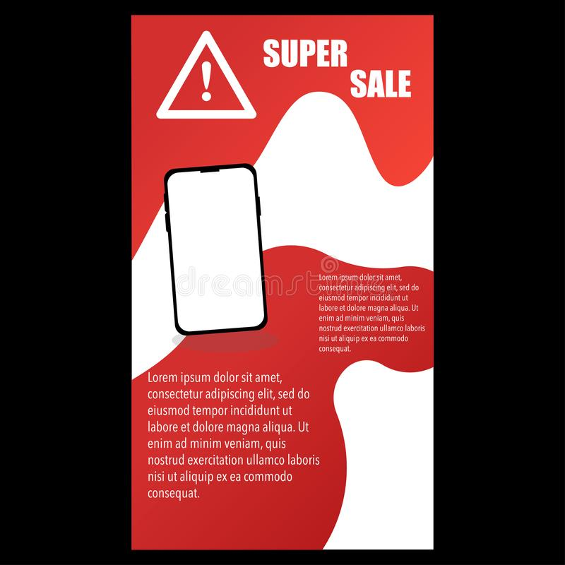 banner voor het voorstellen van ideeën met betrekking tot telefoon vector illustratie