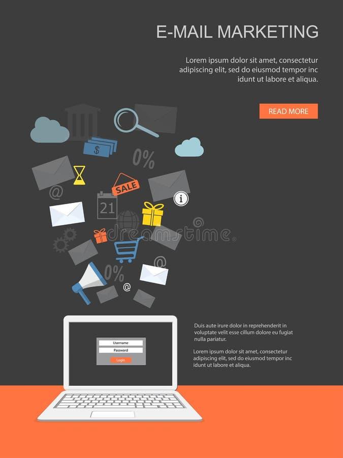 Banner voor Internet-marketing vector illustratie